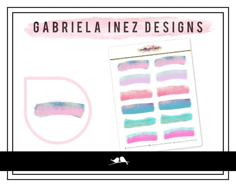 Watercolor Labels  Pastel Planner Stickers  Perfect for your image 0