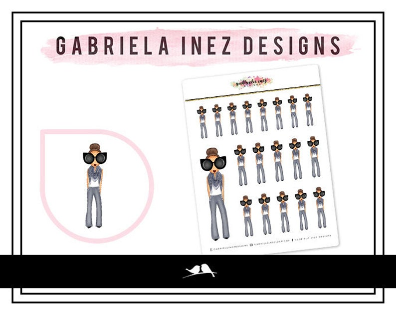Fashionista Chic Planner Stickers  Perfect for your Erin image 0