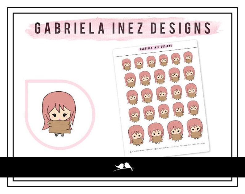 Lexie Blank Wood Sign Planner Stickers Perfect for Erin image 0