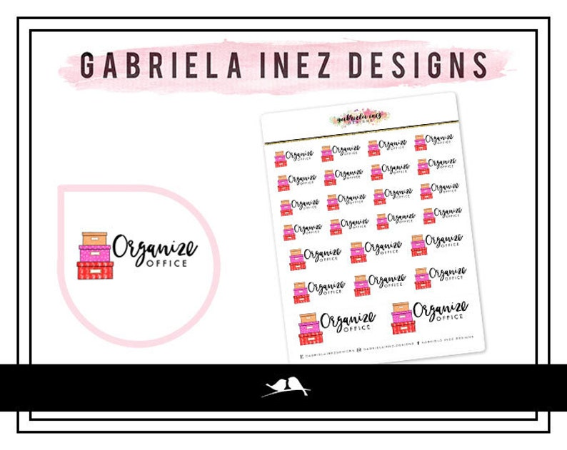 Organize Office Planner Stickers  Perfect for your Erin image 0