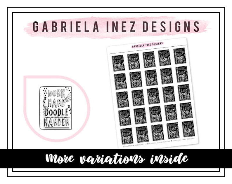 Doodle Notebook Planner Stickers Perfect for Erin Condren image 0