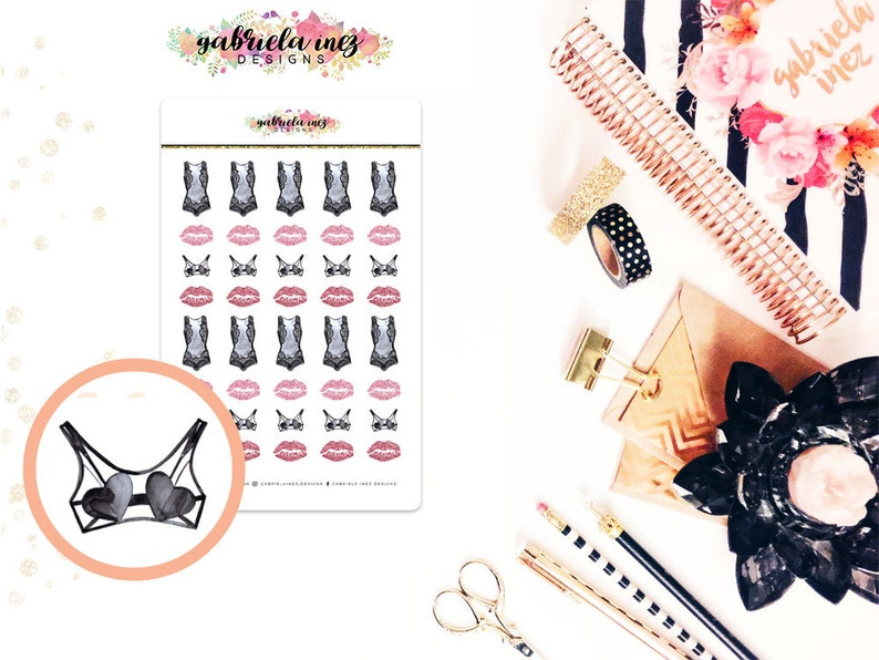 Midnight Vixxen Planner Stickers  Perfect for your Erin image 0