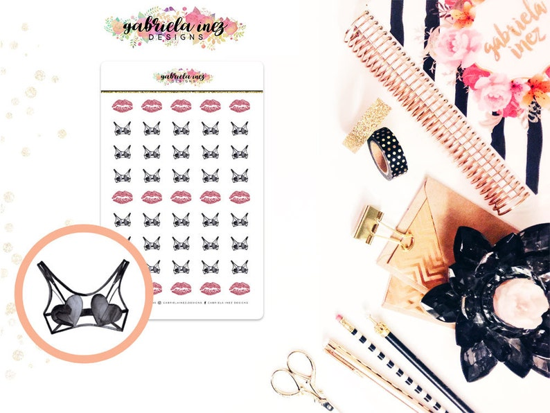 Sexy Bra / Sexy Time Planner Stickers  Perfect for your Erin image 0
