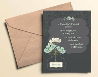 Friendship Garden Note Cards