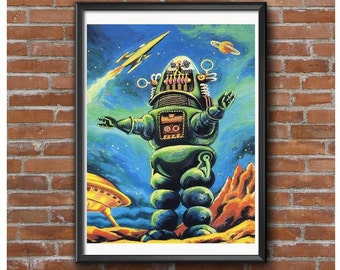 Robby the Robot Poster – Forbidden Planet 1956 Sci-Fi Icon