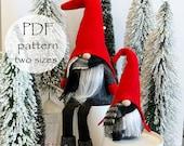 SCANDI Gnome PDF Pattern 2 Sizes, Gnomes with Legs, Scandinavian PDF, Christmas Gnomes, pdf Nisse Tomte Patterns, Mini Gnome Ornaments