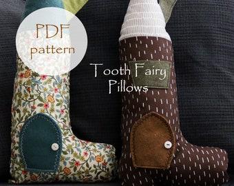 Tooth Fairy SHOE PILLOW pdf Pattern, Kids Pillow Pattern, Waldorf Doll, Tooth Fairy Door, Kids Waldof Pillow pdf Pattern, Shoe House Pillows