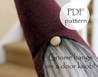 DOOR KNOB PDF Gnome Patterns, Tooth Fairy Gnomes, Sewing Gnomes, Tooth Fairy, Gnome Tutorial, Gnome, KIds Gnomes, Gnome Pattern, Christmas