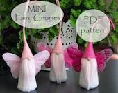 MINI Fairy Gnome Pattern, PDF Gnome Patterns, Christmas Gnome Sewing Pattern, PDF Mini Gnome Sewing Pattern, pdf Sewing, Fairy Pattern