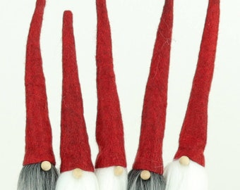 5 Nordic GNOMES on a STICK, Nordic Gnome, Packaging, Gift Wrap, Party Favors, Scandinavian Gnomes, Party Gifts, Tomte, Nisse, Christmas Wrap