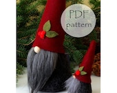 CHRISTMAS Gnome PDF Pattern 3 Sizes, Digital Pattern Easter Gnome, Traditional Gnomes, Gnomes, Nisse Tomte Patterns, Gnome Tutorial Easy