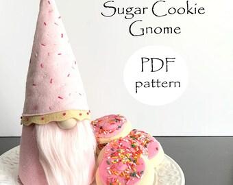 SUGAR COOKIE Gnome PDF Sewing Patterns, Christmas Gnomes pdf, Gnomes, pdf Embroidery pattern, Sugar Cookies, pdf Gnome Patterns, Easy Gnomes