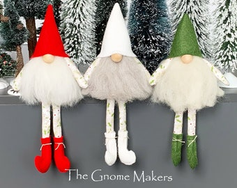 Gnome Pattern, THE THREE ELVES Sewing Pattern, Three Hats pdf Gnomes Tomte Nisse Patterns, Cloth Doll Patterns, Christmas Decor,