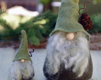 SET Wizard Mini and Large Gnome, Nordic Gnomes, THORNE, Scandinavian, House Gnome, Christmas Gifts, Gnomes, Gandalf Wizard, Woodland