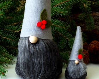 Set Mini and Large Nordic Gnomes, ALISTAIR, Traditional Gnome, Gnome, Mini Gnomes, Tomte, Nisse, Tomten, Holiday Gifts, Santa, Nordic Gnome