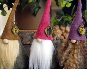 Gnomes, Meadow Nordic Gnome, CIMMI, Gnomes, Scandinavian Gnomes, Home Gnome, Elf, Elves, Easter, Woodland, Forest, Gnome Gifts, Pink Purple
