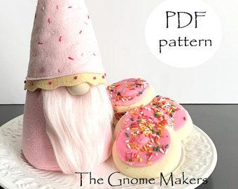 SUGAR COOKIE Gnome PDF Sewing Patterns, Christmas Gnomes pdf, Gnomes, Cloth Doll Sewing Pattern, Sugar Cookies, pdf Gnome Patterns, Gnomes