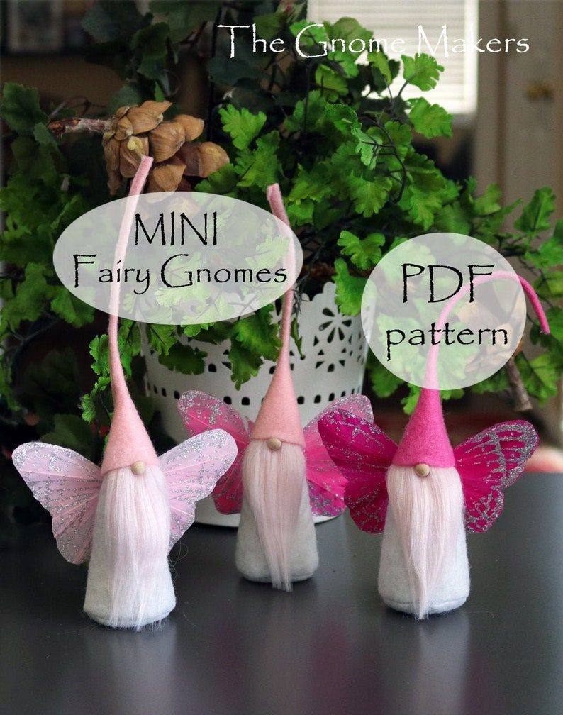 MINI Fairy Gnome Pattern Easter Gnomes Gnome Sewing Pattern image 0
