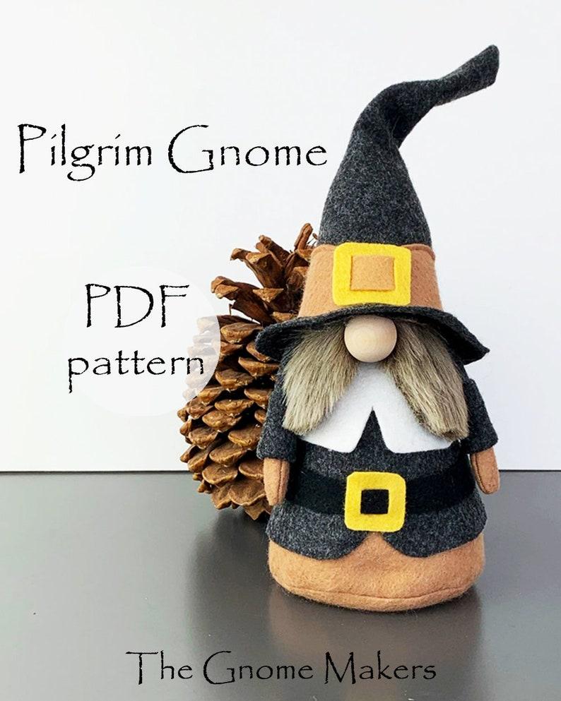 Thanksgiving PILGRIM Gnome PDF Sewing Pattern Gnomes pdf image 0