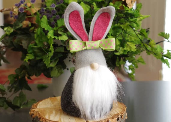 Bunnies gnome etsy gifts christmas gifts easter bunnies negle Image collections