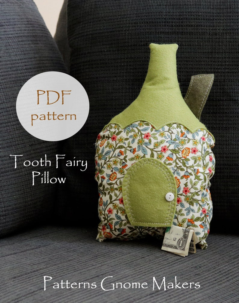 Tooth Fairy Pillow Pattern DIY Pattern Tooth Fairy Door Peg image 0