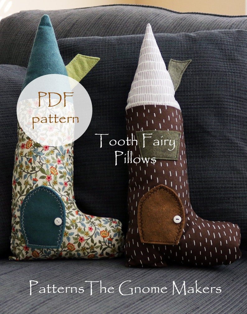 Kids Pillow Patterns Tooth Fairy Peg Dolls Elves DIY Sew image 0