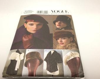 1970s Vintage 9094 Vogue Hat Beret lined Pattern Uncut