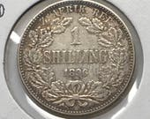ZAR South Africa 1896 1 Shilling KM 5 Paul Kruger Boer War Era Gift For Coin Collector Sterling Silver