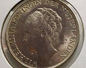 Curaçao 1944 D 2 1 2 Gulden Silver Crown Km 46 Lustrous World Crown Gift For Coin Collector
