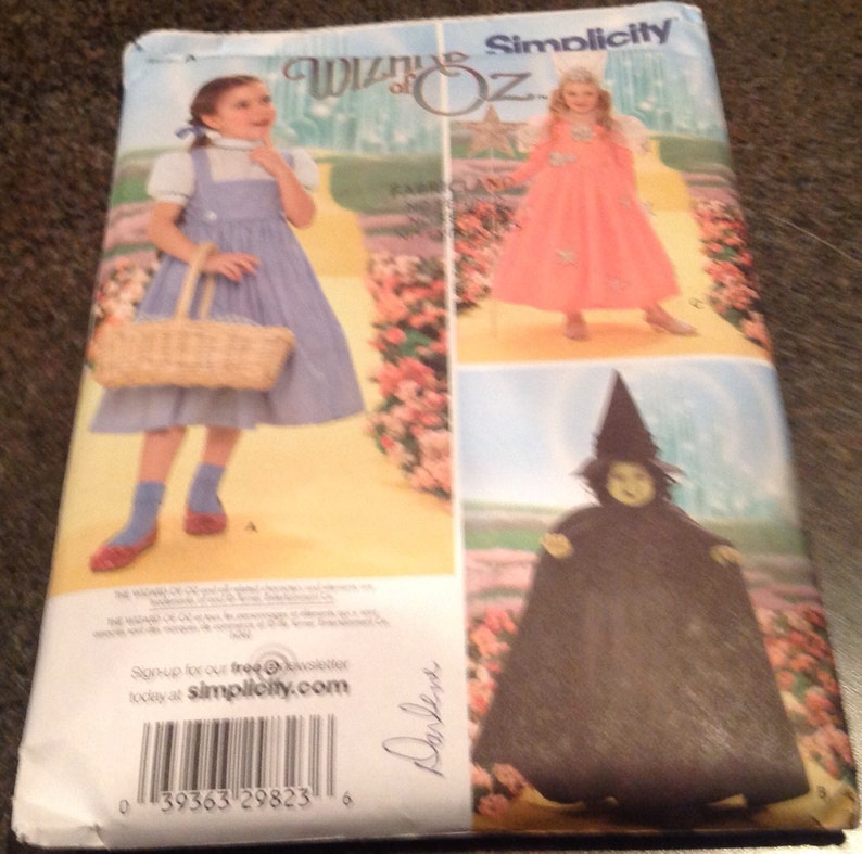 c61b2dffd Simplicity 4133 SewingPattern The Wizzard Of Oz Costume   Etsy
