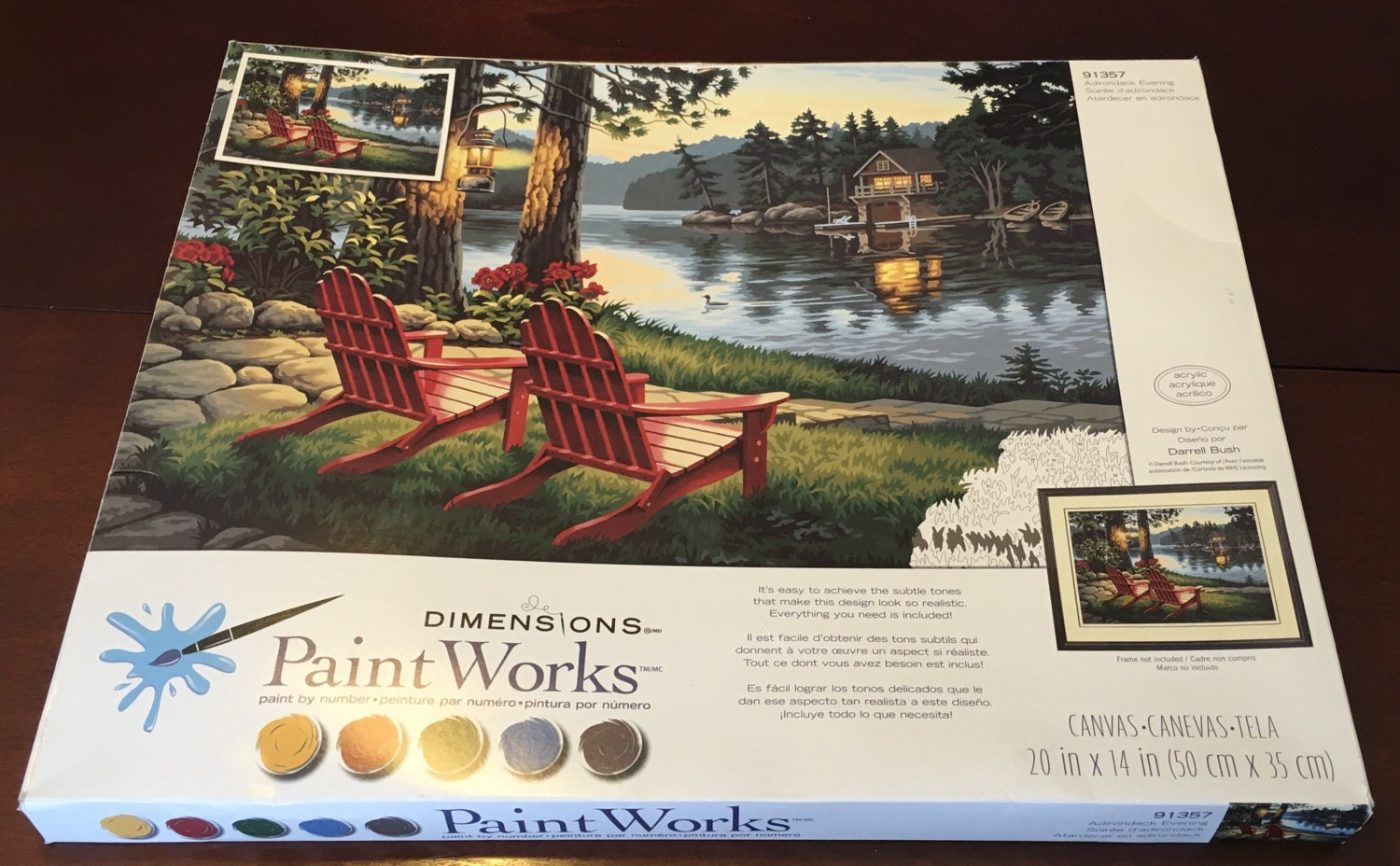 Dimensions Paintworks Paint Works Paint By Number 91357 Adirondack ...