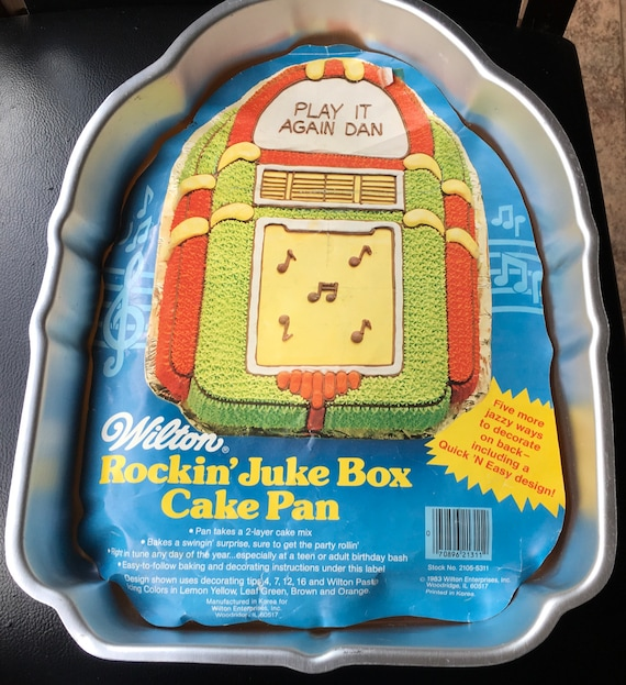 Wilton Cake Pan Rockin Juke Box 502 1387 Top 40s Birthday