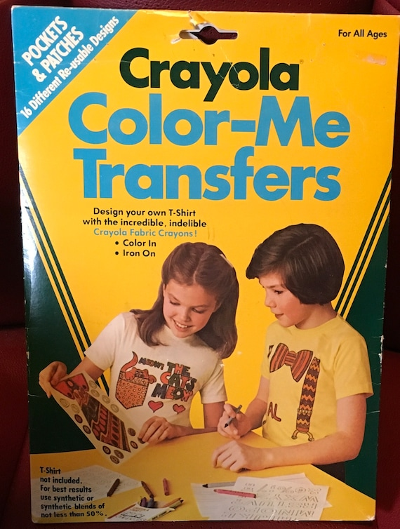 crayola color me transfers design your own t shirt fabric etsy