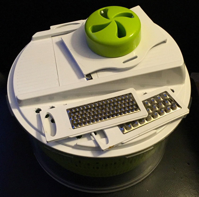 The Sharper Image 5 In 1 Salad Spinner Mandoline Slicer Spin