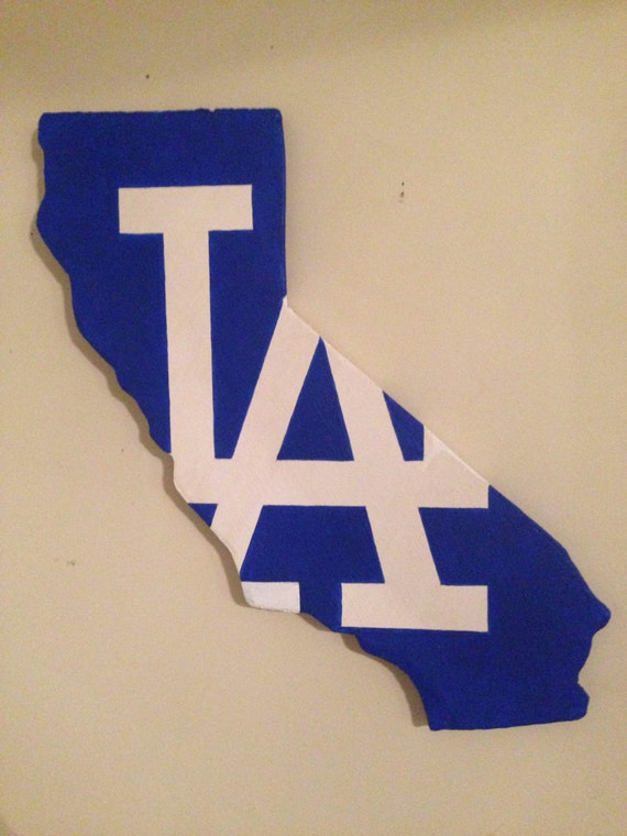 California Shape With La Dodgers Logo Etsy
