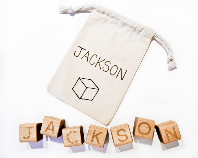 Personalized Baby Blocks / Personalized Baby Gift / Baby Name image 0