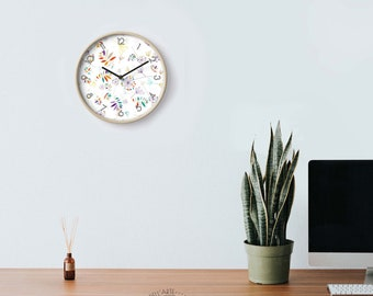 Colored Eco Design Wall Clock