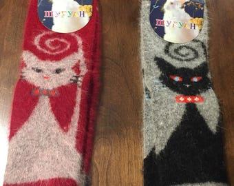 6cbd9c4fa89d3 One pair Kids warm socks angora rabbit hair and wool