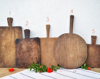 Primitive Cutting Boards, Wooden Food Photo Prop, Flat Lay Props