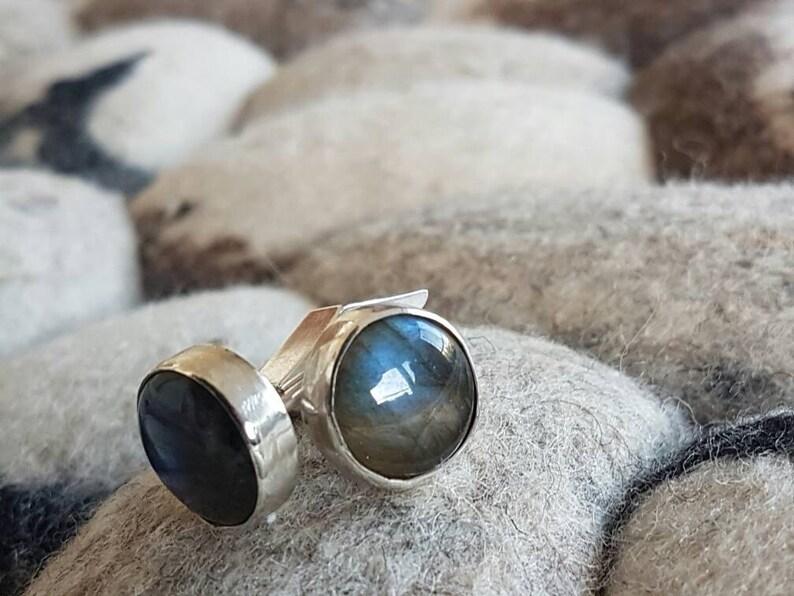Handmade Cufflinks Labradorite /& silver