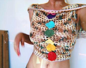 Earths Chakra Coverup Crochet 3 ways to wear