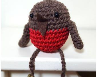 Crochet Robin, Crocheted in cotton