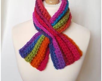 Merino Crochet Scarf