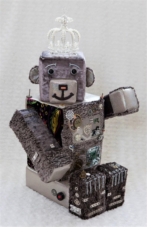 Robobear Robot bear Bekkiebears OOAK artist bear image 0