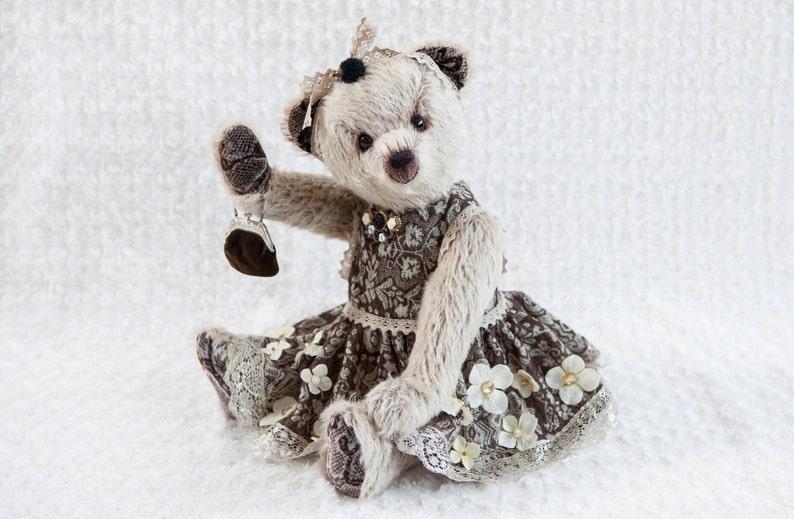 Antoinette OOAK artist teddybear mohair Bekkiebears hedgehog image 1