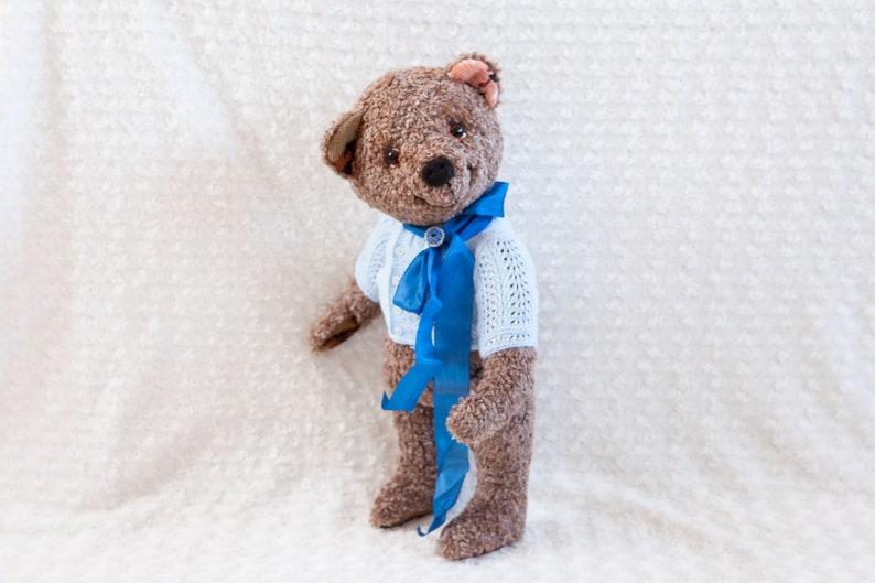 Boy Ooak artist teddy bear Bekkiebears teddybear image 0