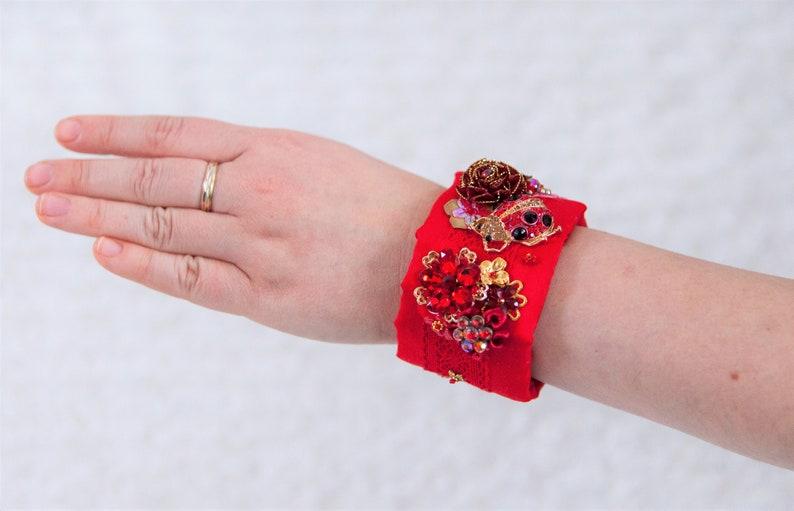 Lady Bug Bracelet OOAK artist piece Bekkiebears image 0