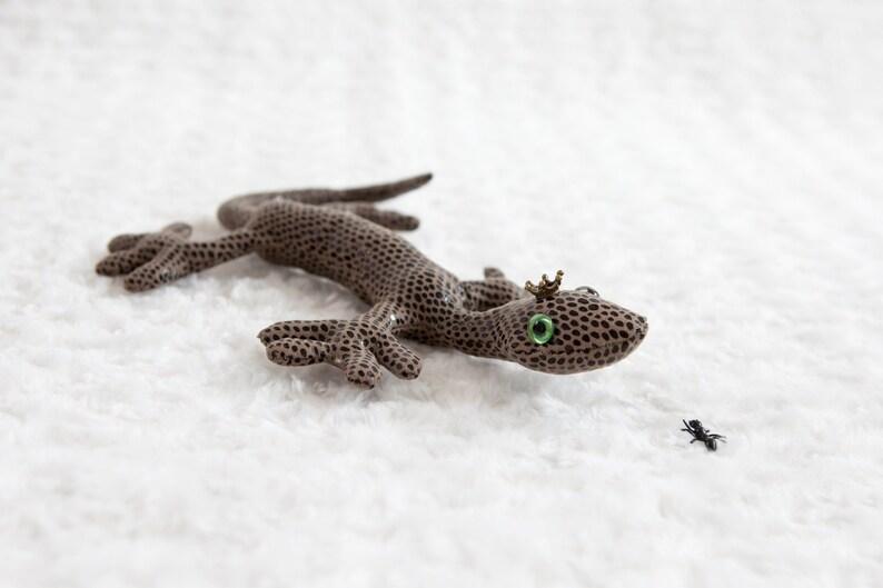 Bekkiebears green OOAK artist piece Mr. Gecko lizzard image 1