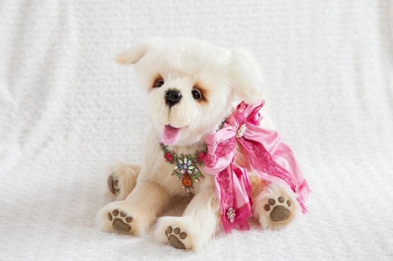 Bekkiebears Ooak artist dog Golden Retriever Goldy image 0