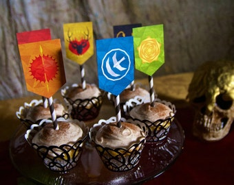 Game of Thrones Printable Banners / GoT Party Printable Decorations / GoT House Sigils / GoT Cupcake Toppers